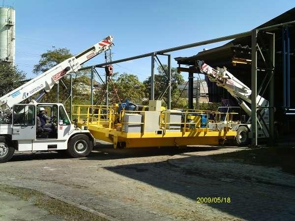 Uma solução inédita foi encontrada em Caçapava, quando os equipamentos da Cunzolo facilitaram uma operação na fábrica da MWL Brasil Rodas & Eixos, durante a montagem de uma nova ponte rolante (PR) na fábrica, em maio de 2012 para o cliente Duraferro.